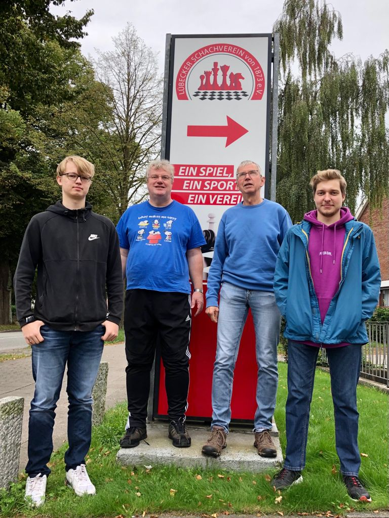 Matthes Bendixen, Birger Boyens, Dr.Holger Ohst und Kay Rahtkens in Lübeck